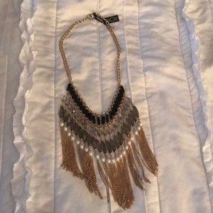 Noir bib necklace